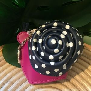 Kate Spade Enchanted Wicker Snail Coin Purse Key